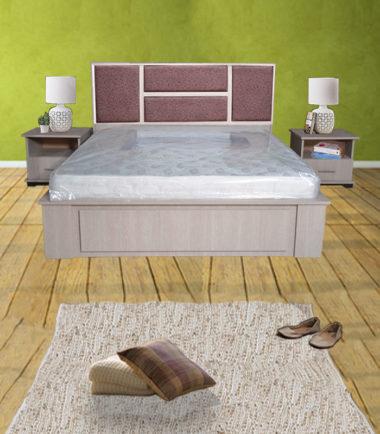 Chambre à coucher avec tête de lit jaune - Orthodream.tn